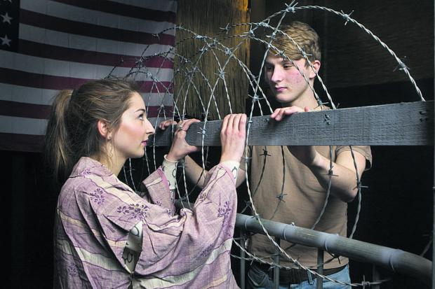 Carys Nicholls,18, playing Kim, and Louis Butler, 17, who plays Chris. Picture: OX65929 Antony Moore