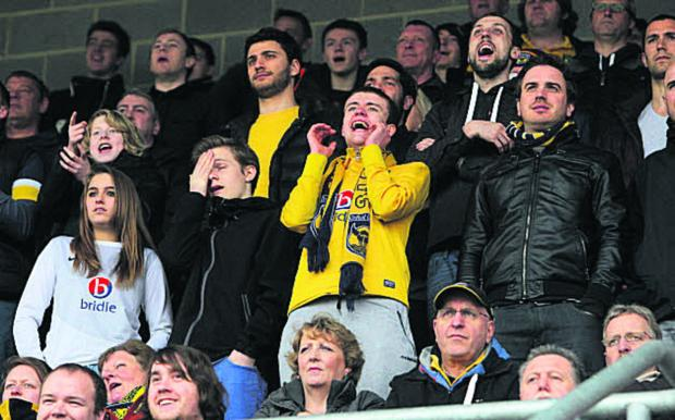 The Oxford Times: United fans at Dagenham last April