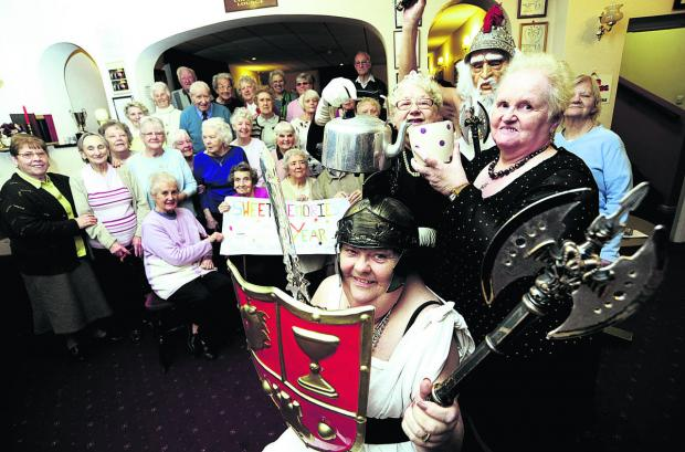 Sweet Memories members including Molly Stimpson, front, as a gladiator, and Christine Burden, right, are all putting in an extra 5