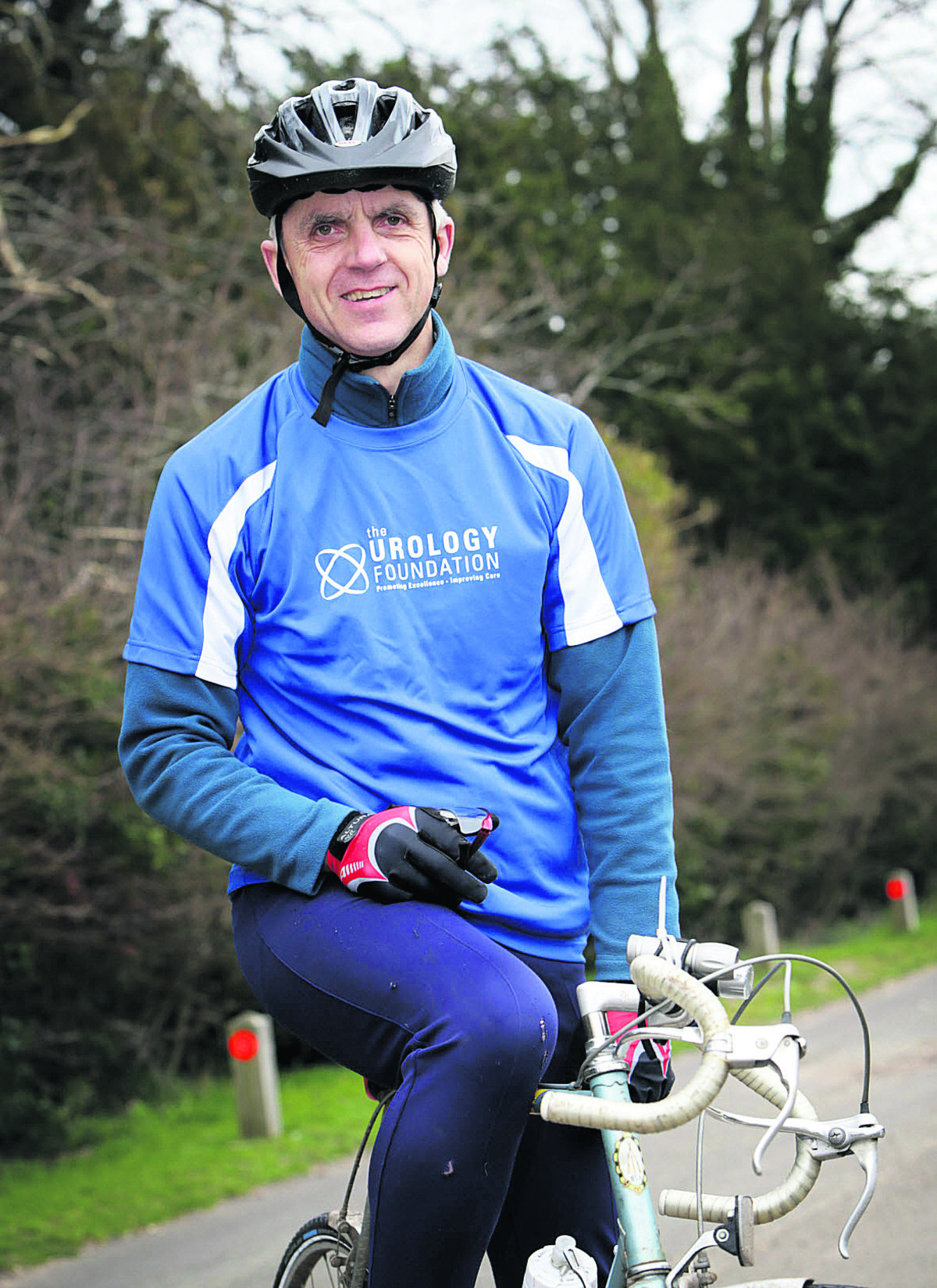 Simon Lord is cycling 800 miles to raise funds for The Urology Foundation. Picture: OX65999  Damian Halliwell