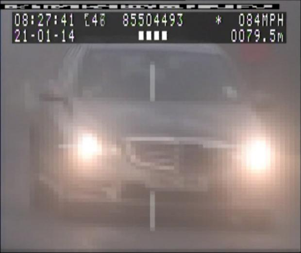 Video: Man caught speeding at 84mph in 30mph zone