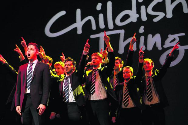 The Oxford Times: STAR LINE-UP: The a capella group Out of the Blue performing at Childish Things. Below comedian Jimmy Carr