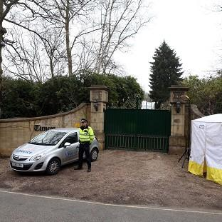 The Oxford Times: Police outside the home of Boris Berezovsky after his death.