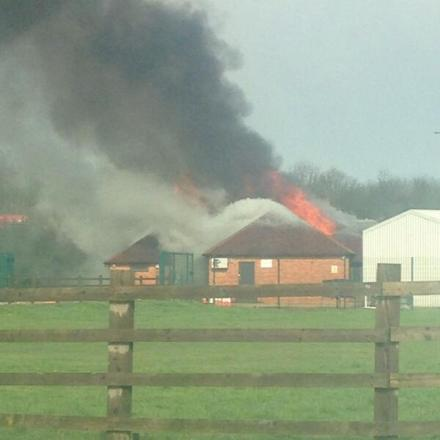 Banbury Cricket Club on fire. Picture from reader Stuart Newman