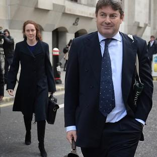 The Oxford Times: Charlie Brooks and his wife, former News International chief executive Rebekah Brooks, leave the Old Bailey in London