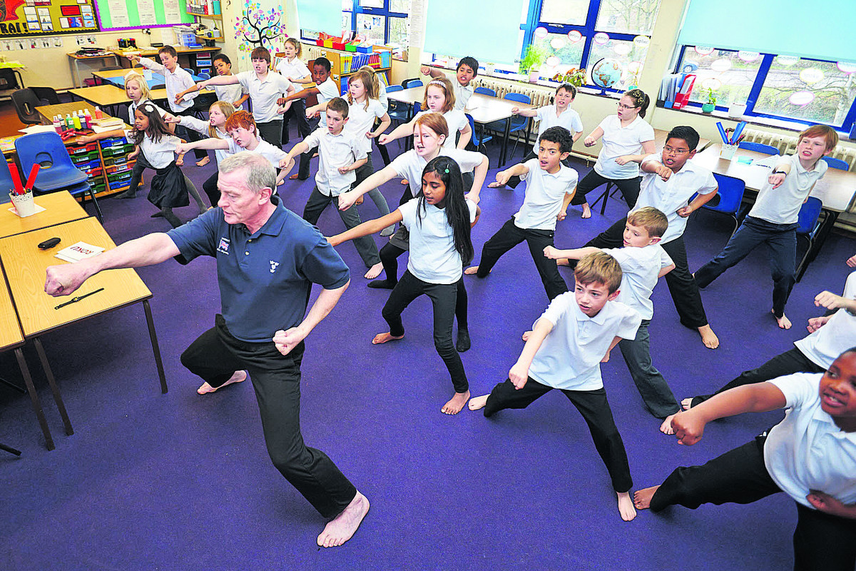INSCRUTABLE: Sensei David Brassington leads the karate class