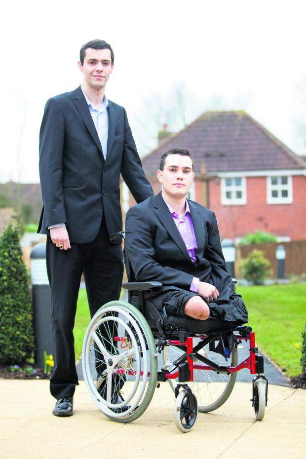 The Oxford Times: Former Pte Alex Stringer lost three limbs in an explosion in Afghanistan. His school friend Conor Aldous vowed to look after him