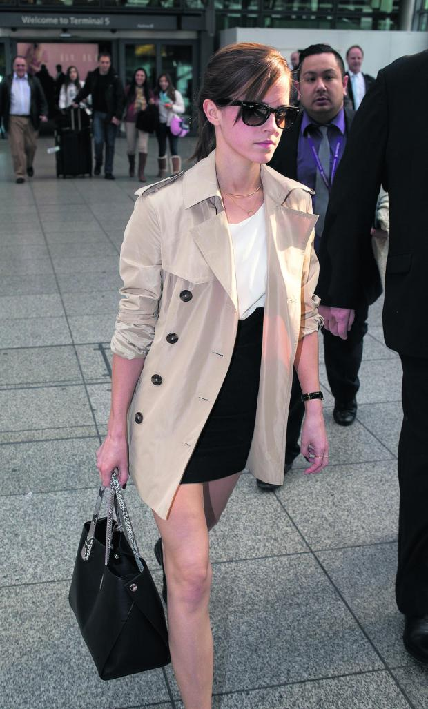 The Oxford Times: Emma Watson with her handbag