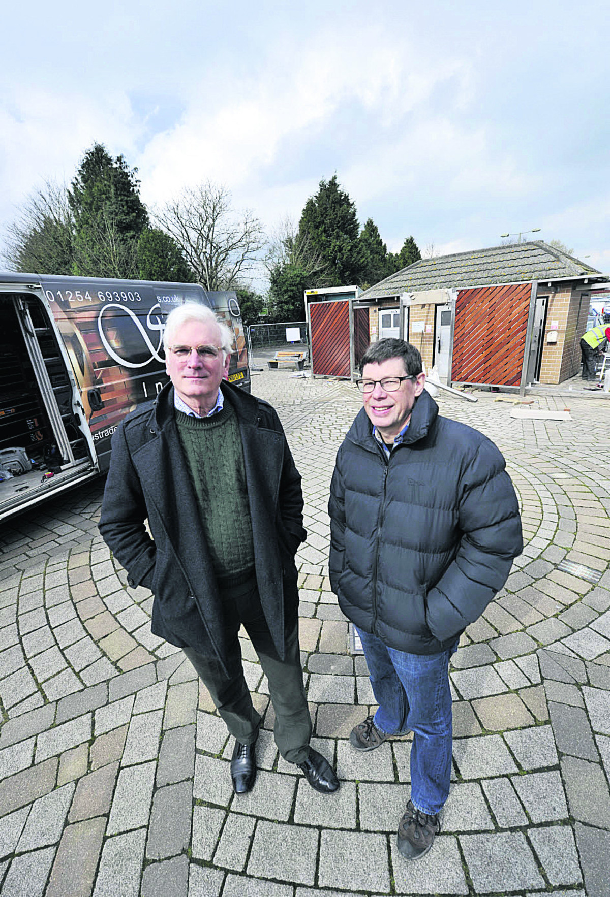 David Robey, left, Kidlington parish councillor, and Tim Emptage, Cherwell district councillor, outside the new-look toilets