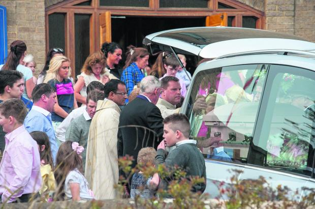 The Oxford Times: Mourners at the funeral of Ellie-May Doran