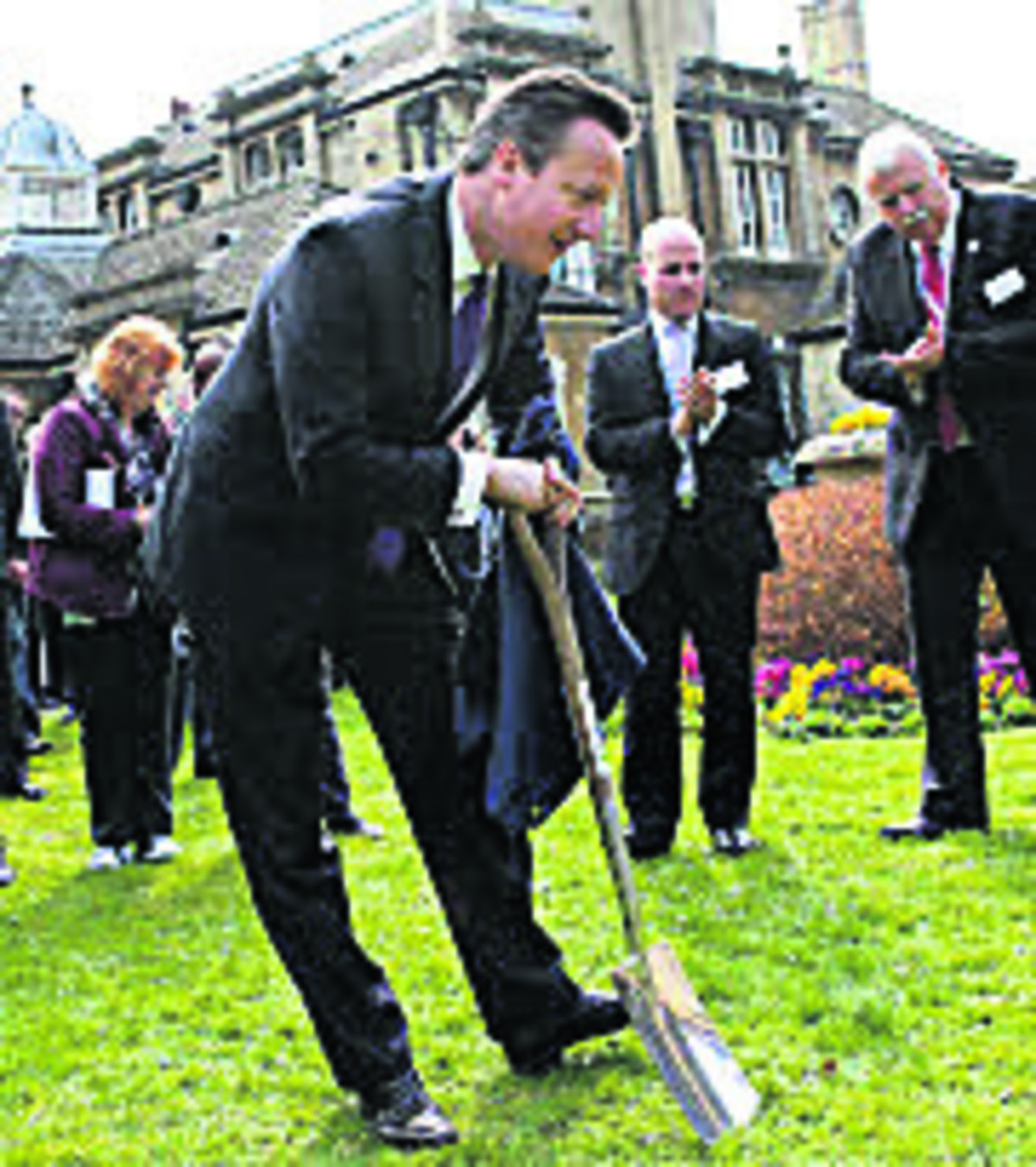 David Cameron digs in