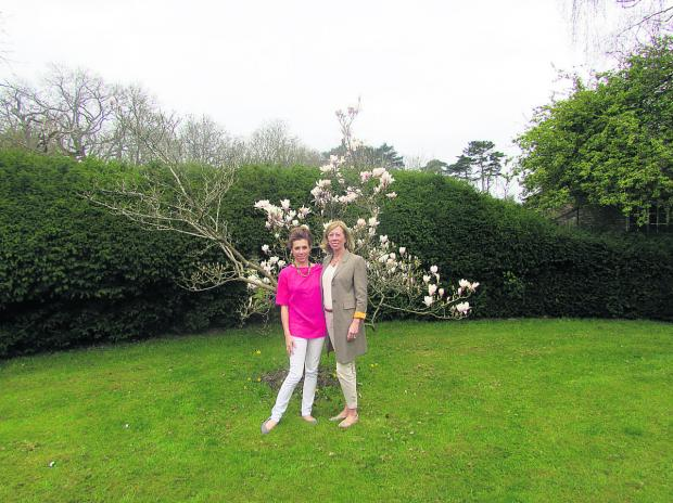 The Oxford Times: Anna Halloran and mother Monique who have set up garden design firm Spiering & Co