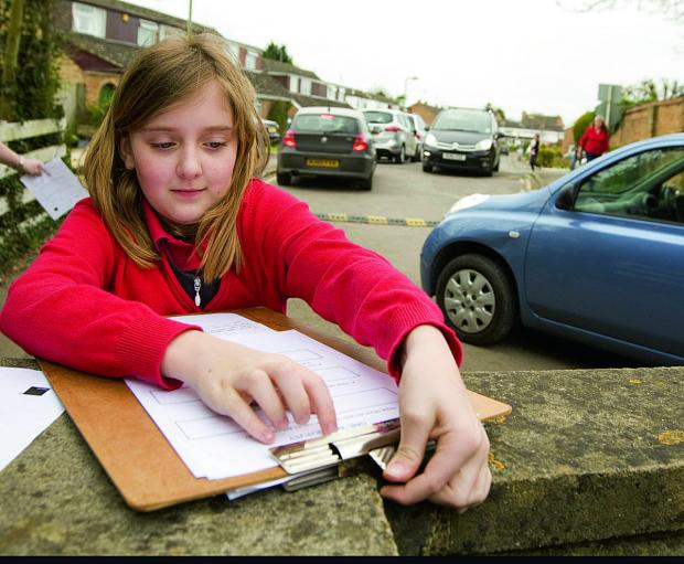 The Oxford Times: Lia Stratford works on the survey