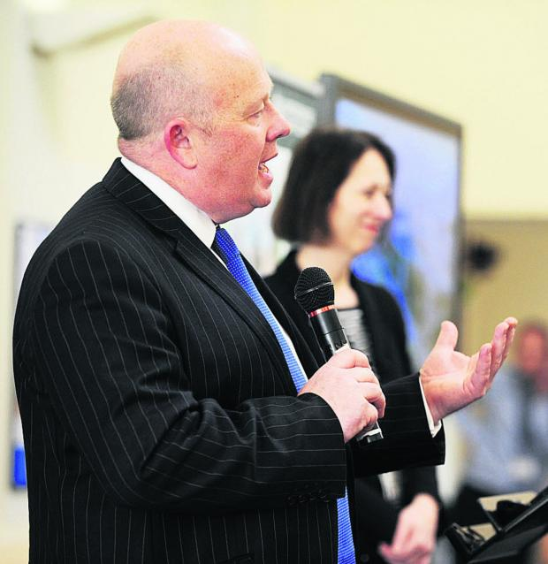 The Oxford Times: Ian Hudspeth outlines his vision, left, and Oxford East MP Andrew Smith gives his first reactions