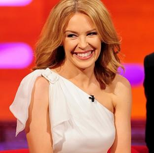 The Oxford Times: Kylie Minogue during filming of the Graham Norton Show