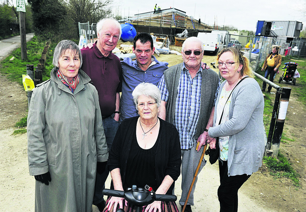 Angry Grandpont residents, from left standing, Carolyn Dean, Peter Berry, David Bean, Ray Davis and Dawn Poppleton; front, Jane Carter