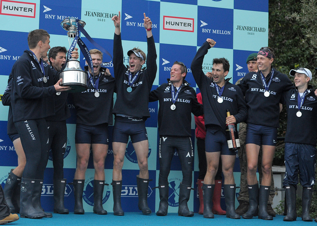 Oxford are jubilant after retaining the BNY Mellon Trophy