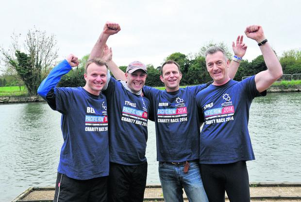 The Oxford Times: Ben Bishop, Simon Tyrrell, Darren Taylor and Spike Miles celebrate