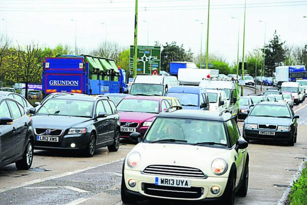 Traffic delays on the Botley Interchange yesterday morning