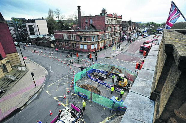 Frideswide Square pictured from the top of the Royal Oxford Hotel. Picture: OX66440 Jon Lewis