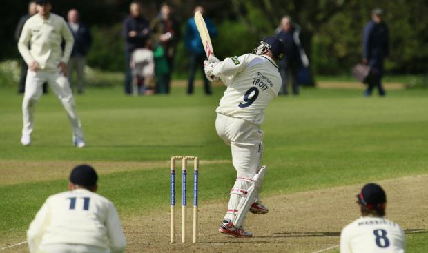 The Oxford Times: Jonathan Trott is out as he lofts the ball to fine leg