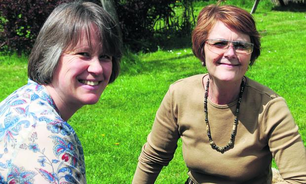 Lisa Jones, left, and Jane Pendall before Lisa was diagnosed with breast cancer