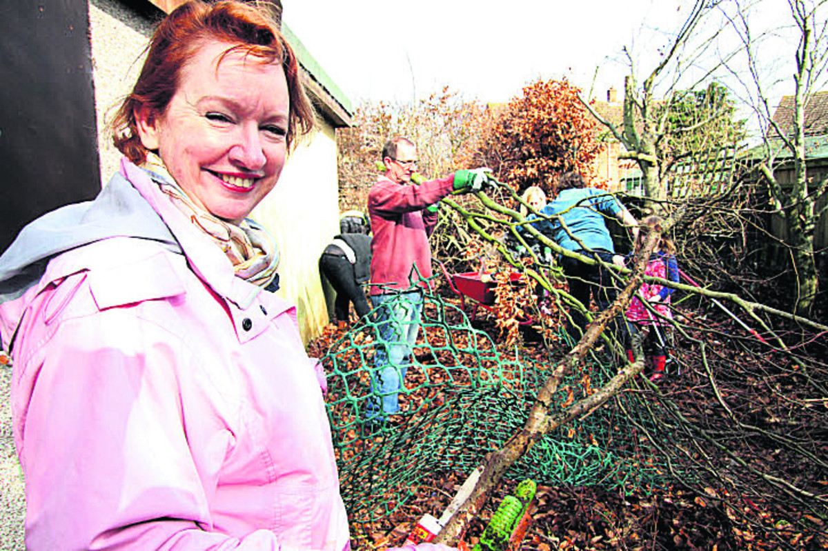 Wallingford Councillor Lynda Atkins was among the young people, council members and volunteers who cleaned up the old church building
