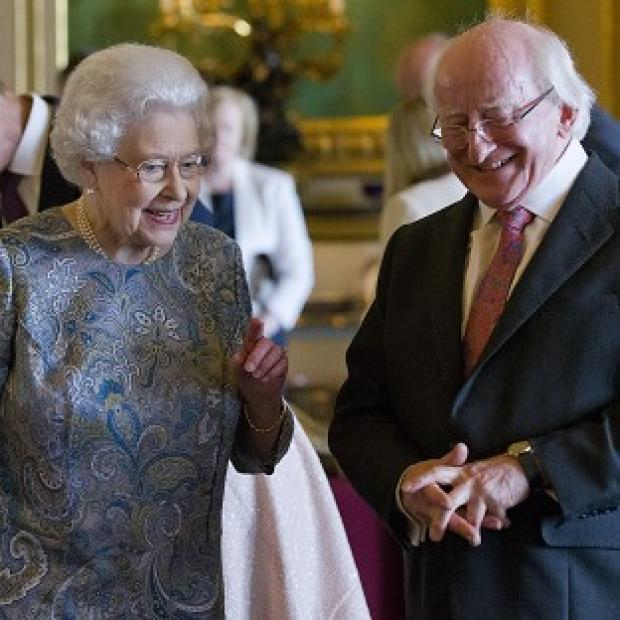 The Oxford Times: The Queen and Irish president Michael D Higgins in Windsor Castle