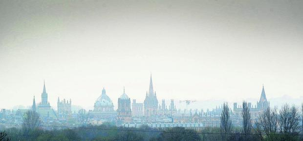 The Oxford Times: Smog hangs over Oxford last month