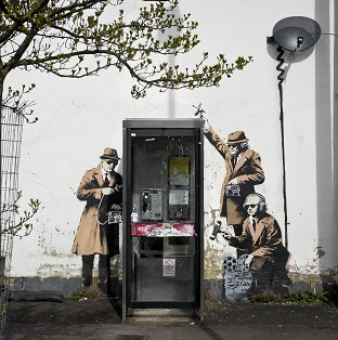 Banksy linked to street artwork