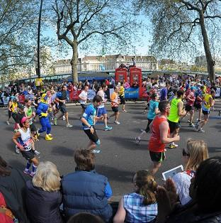 A runner has denied cheating during the London Marathon