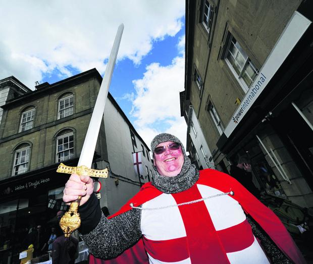The Oxford Times: George Small as his namesake St George