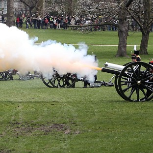Gun salutes mark Queen's birthday