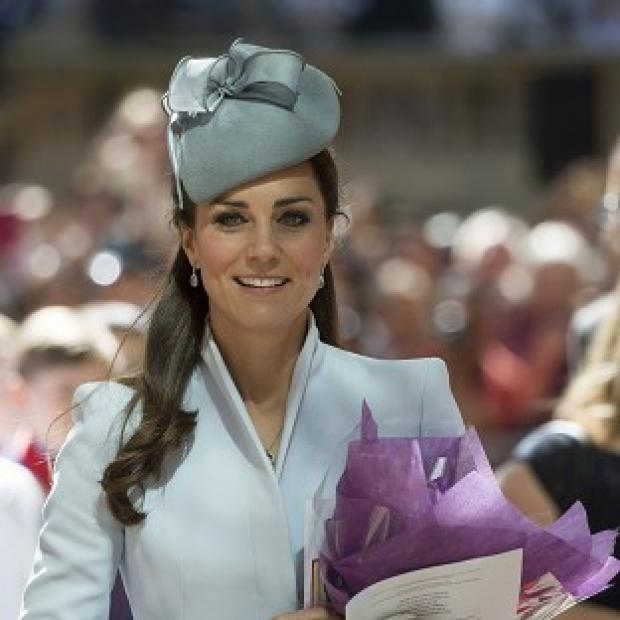 The Oxford Times: The Duchess of Cambridge pictured attending an Easter Sunday church service in Sydney