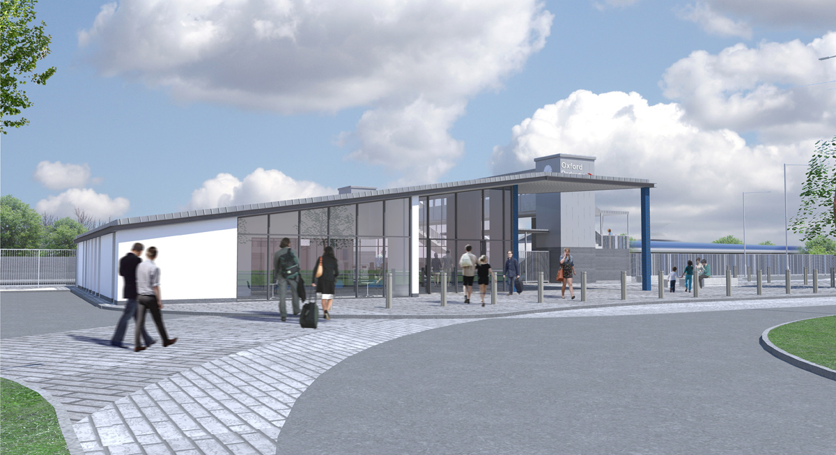 An artist's impression of the new Oxford Parkway station