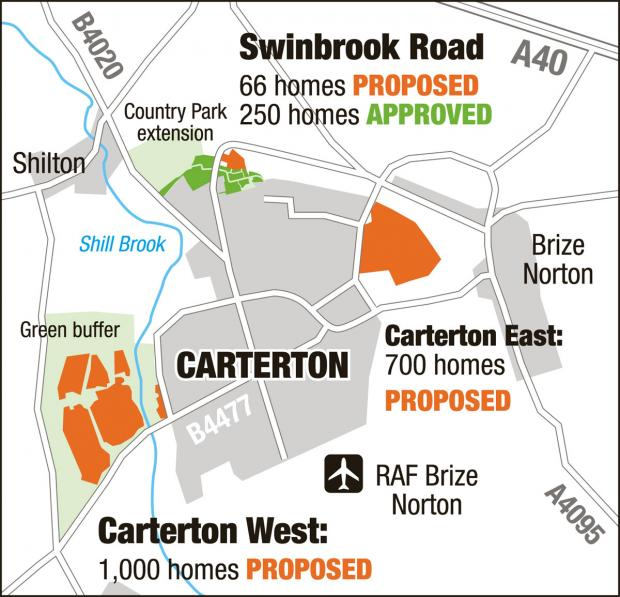 The Oxford Times: Housing developments proposed for Carterton