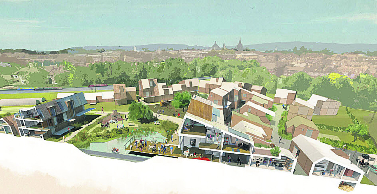 An artist's impression of the proposed development