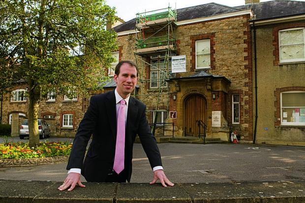 Vale council leader Matthew Barber at the Old Abbey House in Abingdon, which is being sold by the district council. Picture: OX66716 Antony Moore