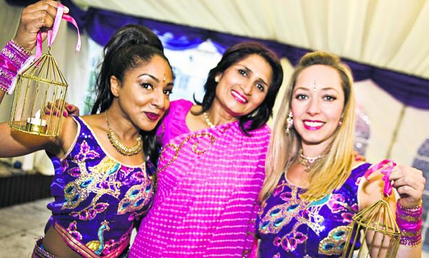 Dancers Yinka Williams and Olivia Heiser, with Kavita Pal from the Tree Hotel