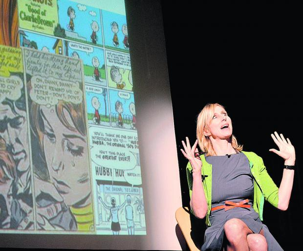 Author Lauren Child launched the Chipping Norton Literary Festival yesterday