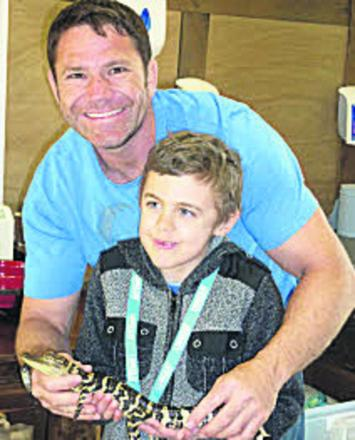 Daniel with TV's Deadly 60 presenter Steve Backshall