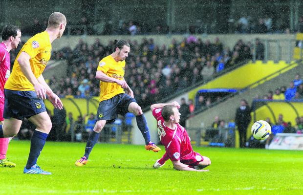 The Oxford Times: Ryan Williams scores Oxford United's goal
