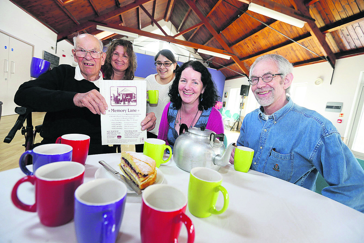 Cafe organisers, from left, Harry Holtum, Kerry Winfield, Maddie Buchanan, the Rev Jane Sherwood and Andrew Smith