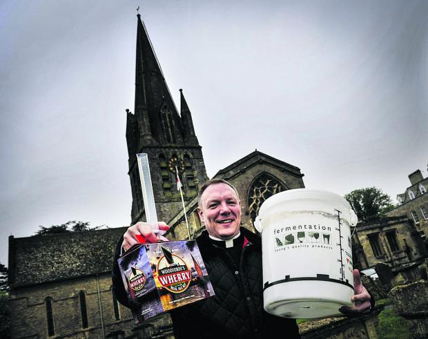 The Rev Toby Wright is brewing his real ale