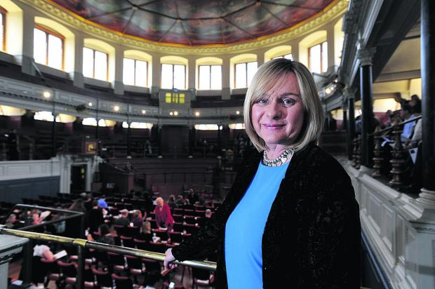 Joanne Pearce at the Sheldonian Theatre