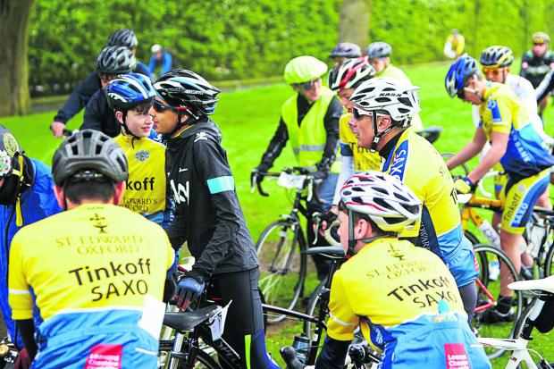 The Oxford Times: Riders gather at the start of the charity event