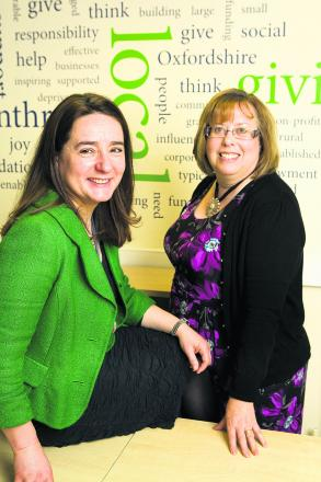 Jayne Woodley, left, and Annette Ahern, from Oxfordshire Community Foundation               Picture: OX66829 Antony Moore