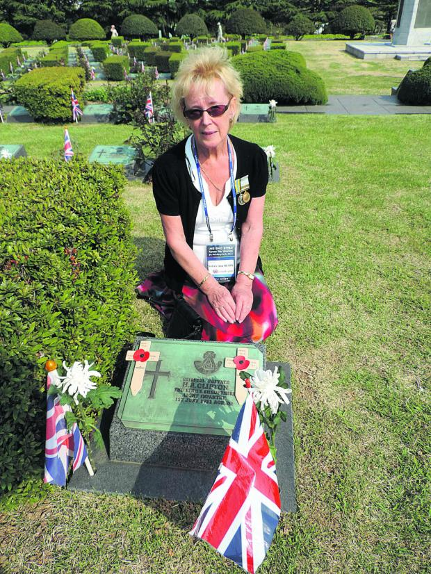 The Oxford Times: Valerie Busby at her uncle Herbert Clifton's grave