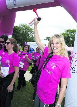 Linda Barker will be taking part in the Pink Ribbonwalk