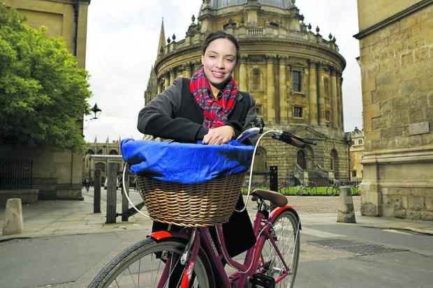 Darnella Daley runs Cycle Tours Oxford, set up thanks to the Prince's Trust              Picture: OX66923 Antony Moore